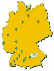 Skizze Quernutzung - Deutschlandkarte mit Pins